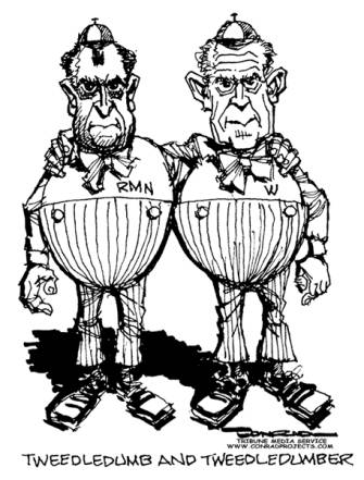 Tweedledumb and Tweedledumber by Paul Conrad
