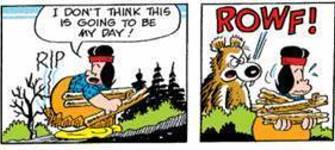 Comic strip redeye man.... I've